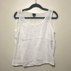 Eileen Fisher 100% Linen Top - Size Large